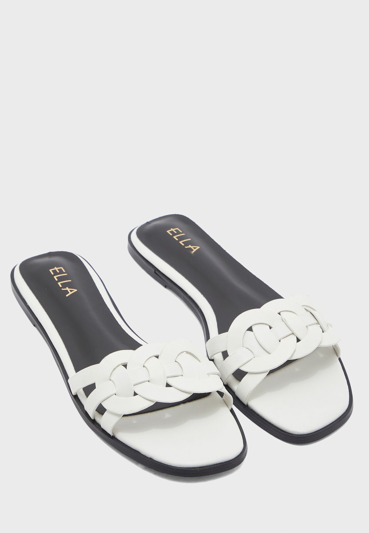 Interwoven Design Flat Sandal