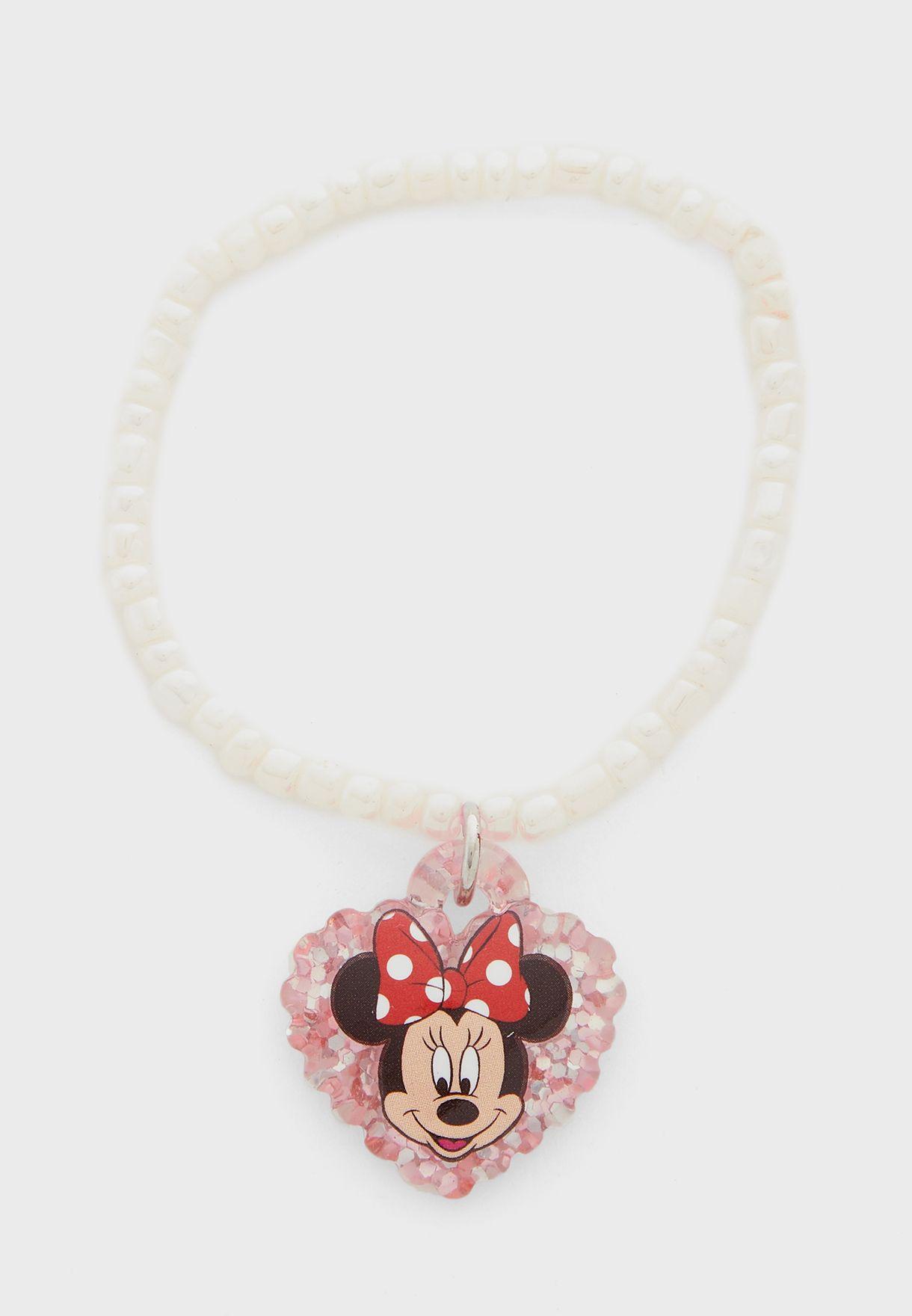 Kids Minnie Mouse Pendant Necklace