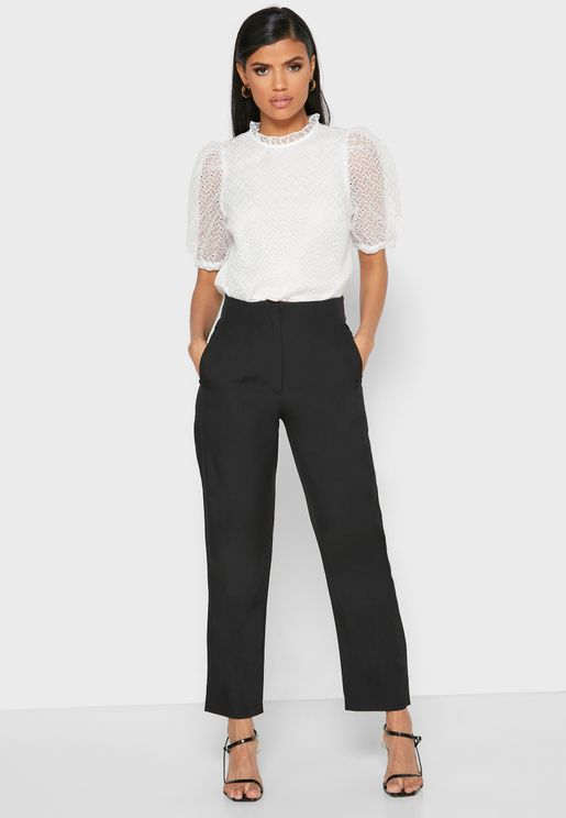 Pocket Front Tailored Pants