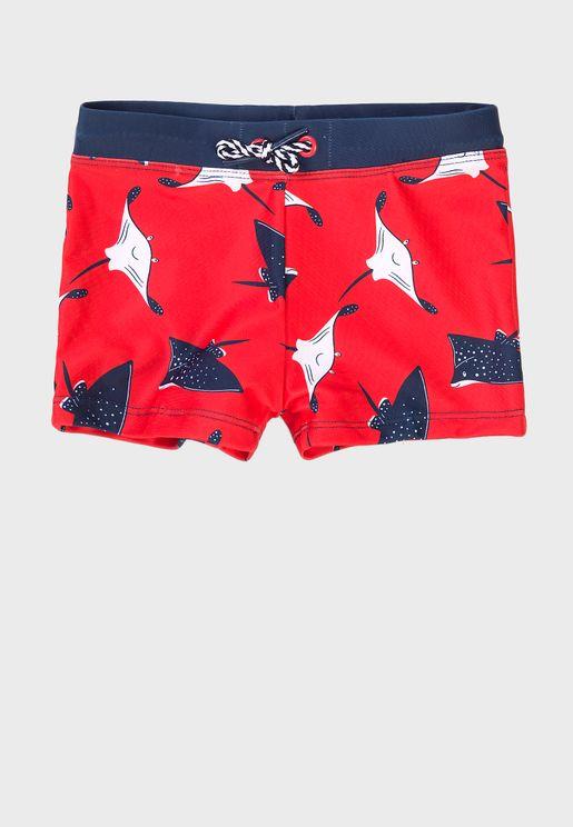 Kids Aop Swim Shorts