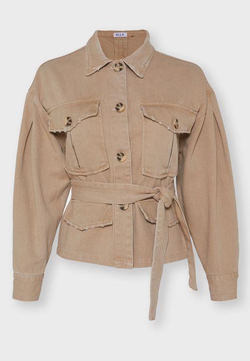 Self Tie Denim Jacket