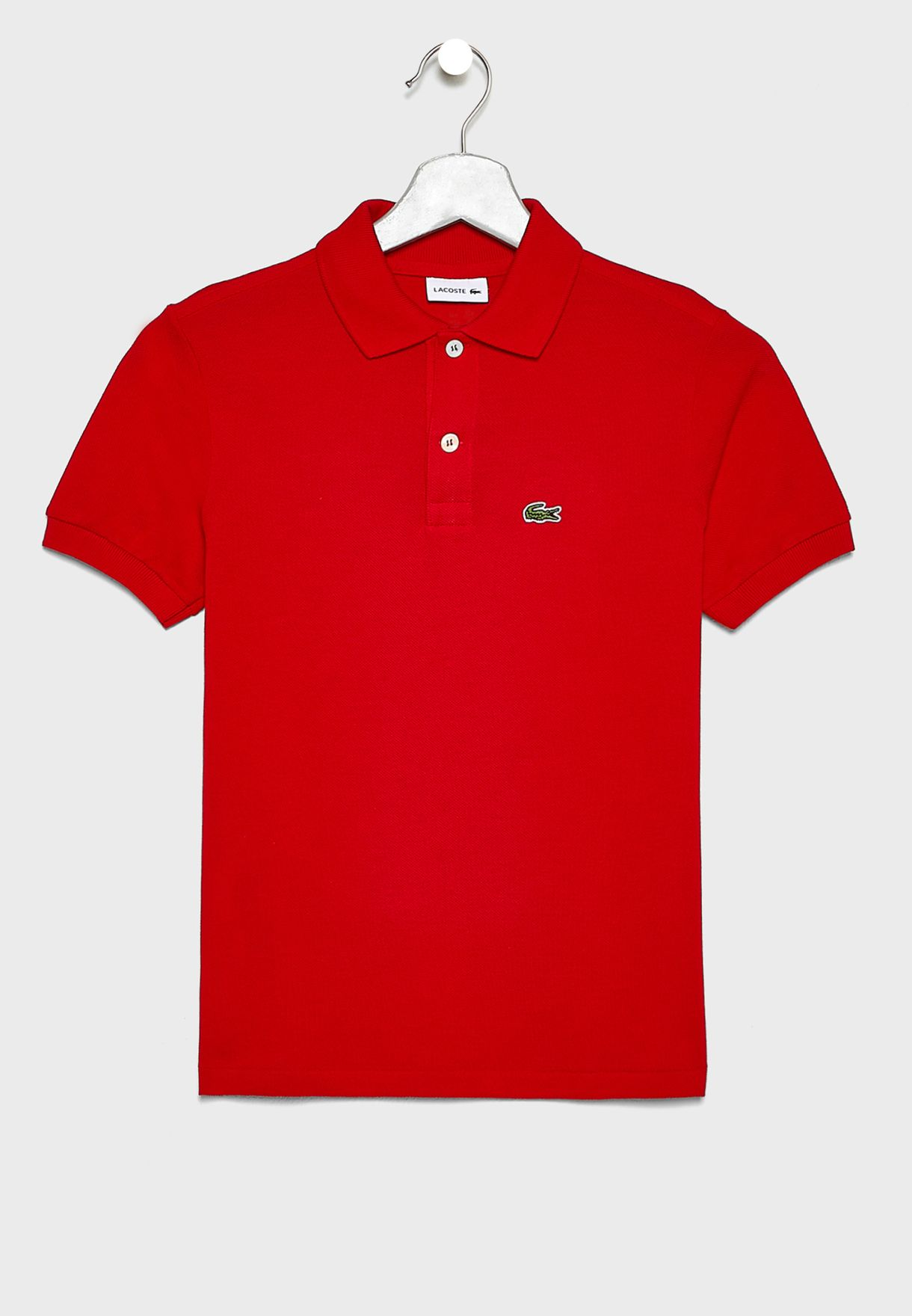 Kids Ribbed Sleeve Polo