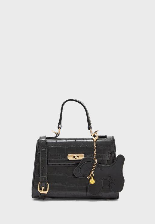 Croc Mini Handbag with Dog Charm