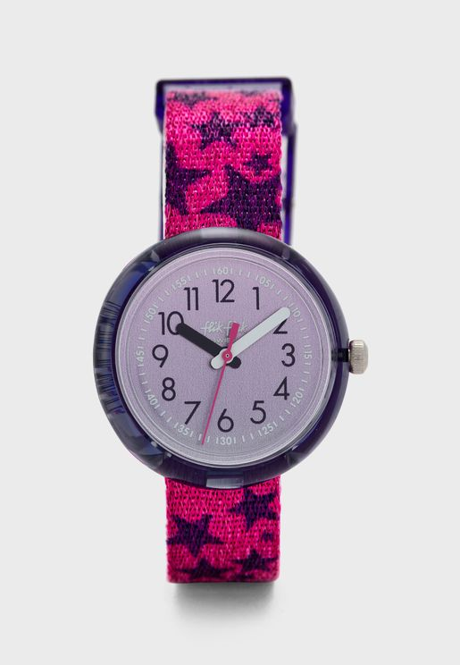 Kids Glitter Stars Watch