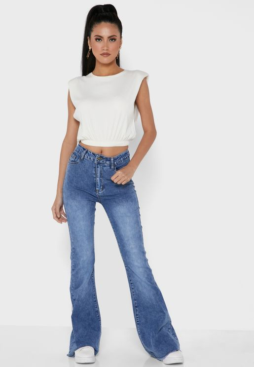 Flare Leg High Waist Jeans