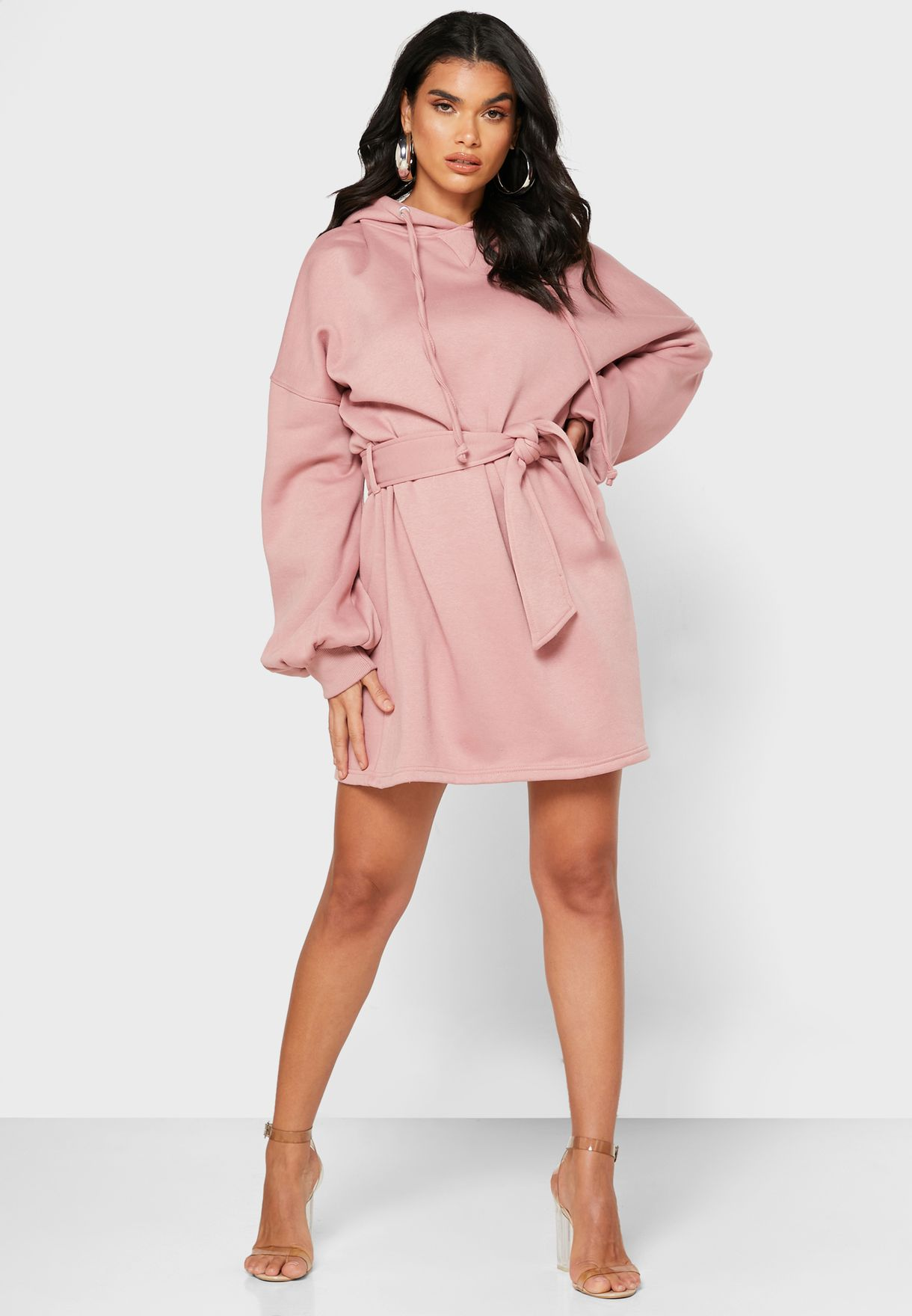 Oversized Hooded Sweat Dress