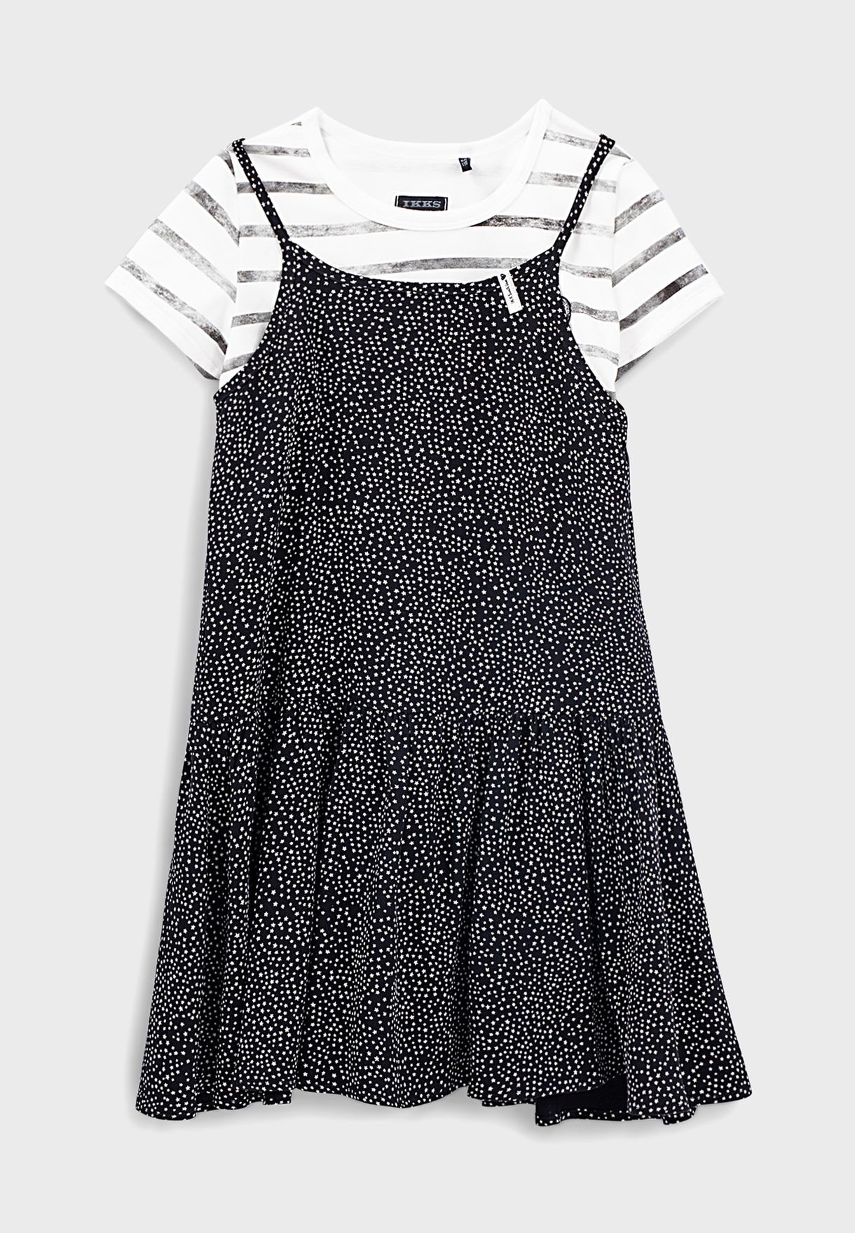 فستان كسرات وتيشيرت للاطفال
