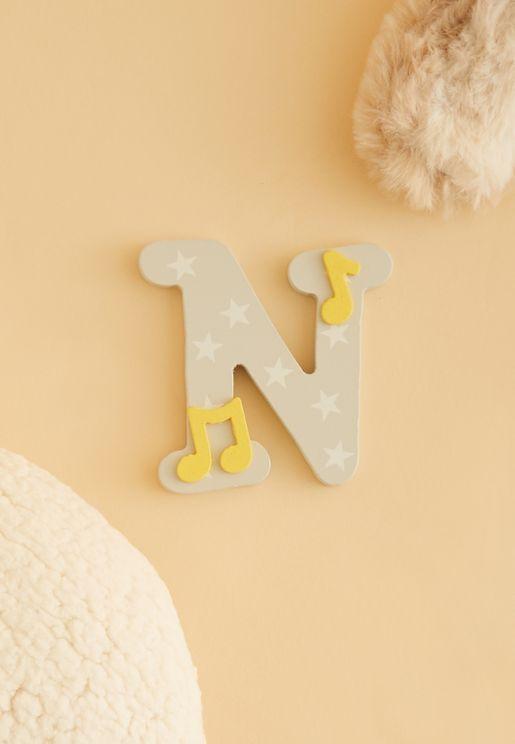 """حرف """"N"""" خشبي"""