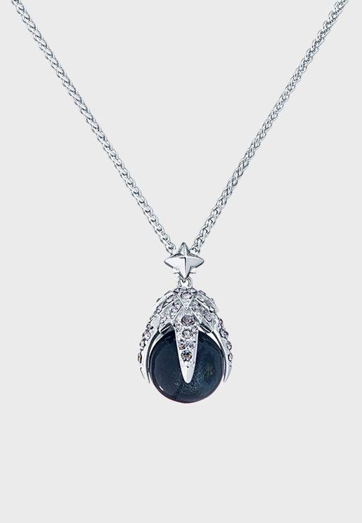 Eagle Crystal Ball Pendant Necklace
