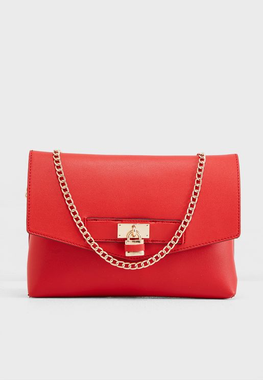 Padlock Chain Handle Crossbody