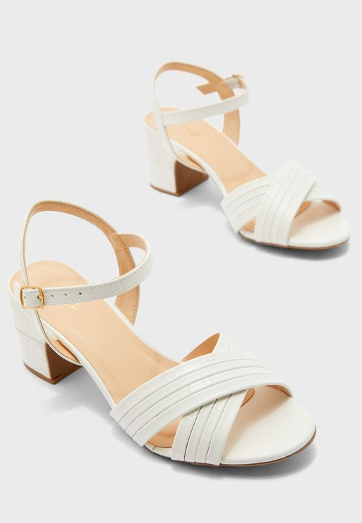 Ankle Strap Low Heel Sandal