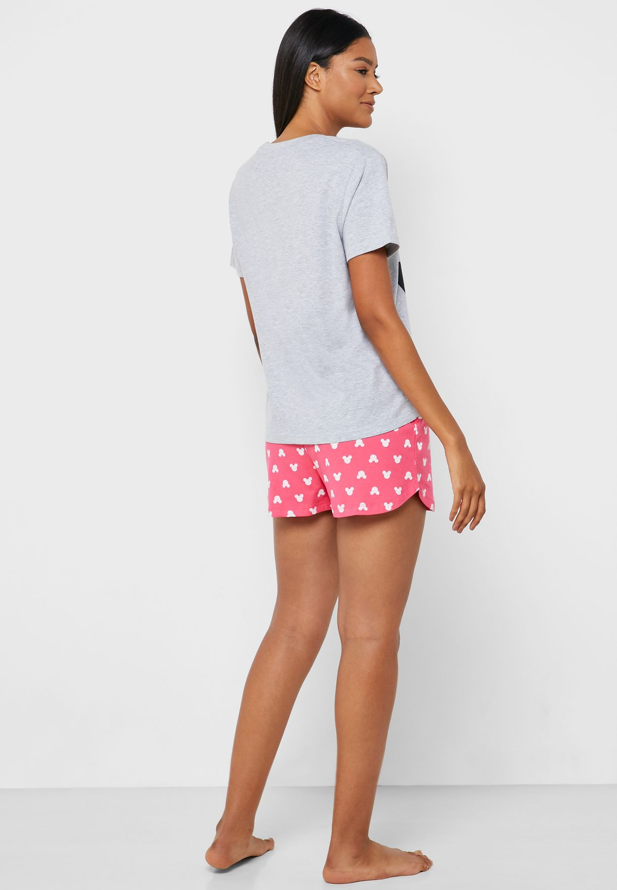 Minnie Print T-Shirt & Shorts Set