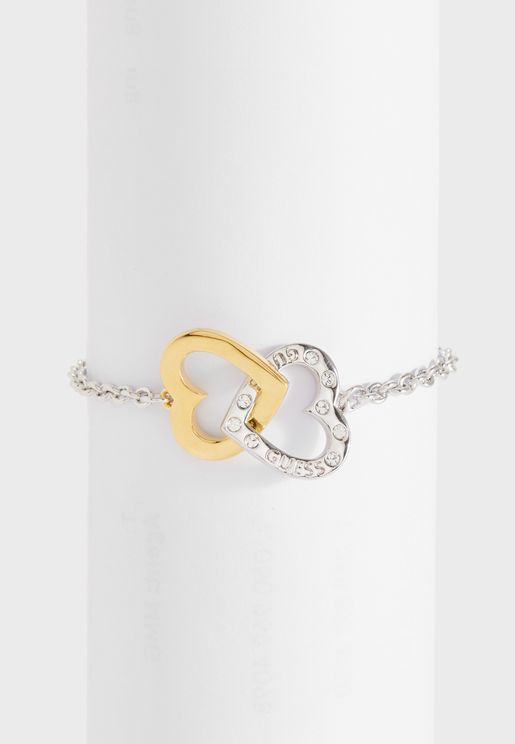 B-Embracing Hrts Charms Bracelet