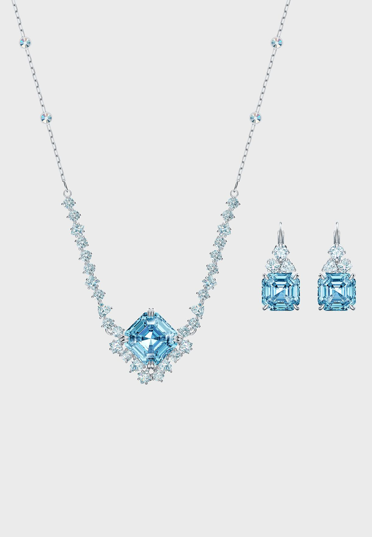 Sparkling Necklace+Earrings Set
