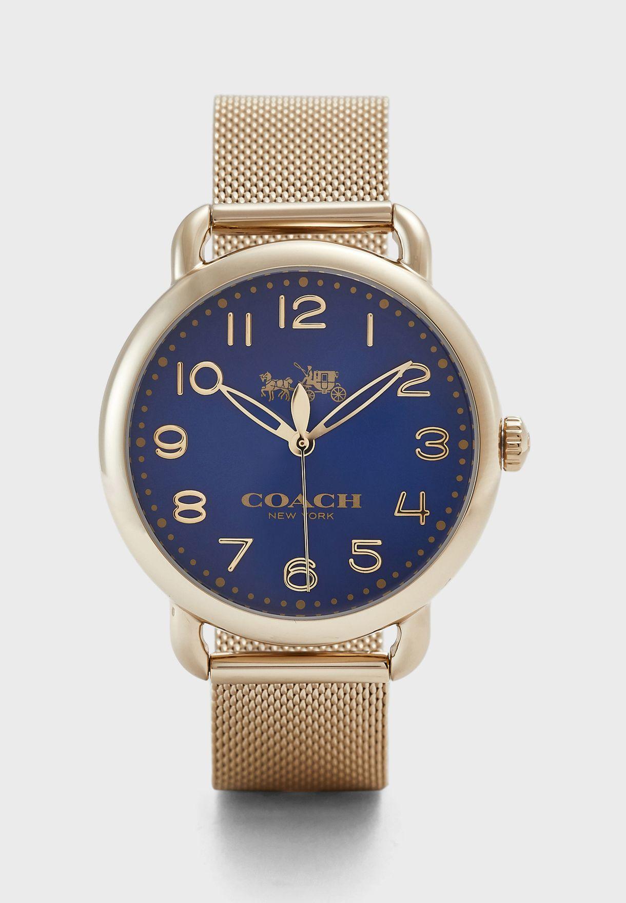 ساعة انيقة بحزام شبك