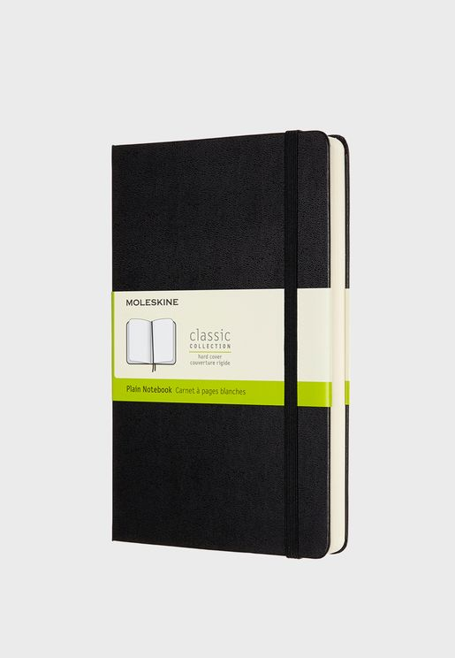 Classic Expanded Large Plain Hard Cover Notebook