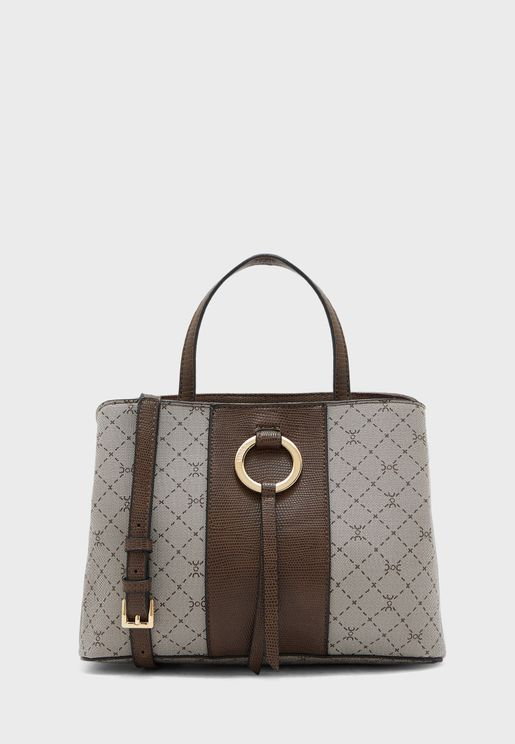 Ring Detail Double Handle Tote