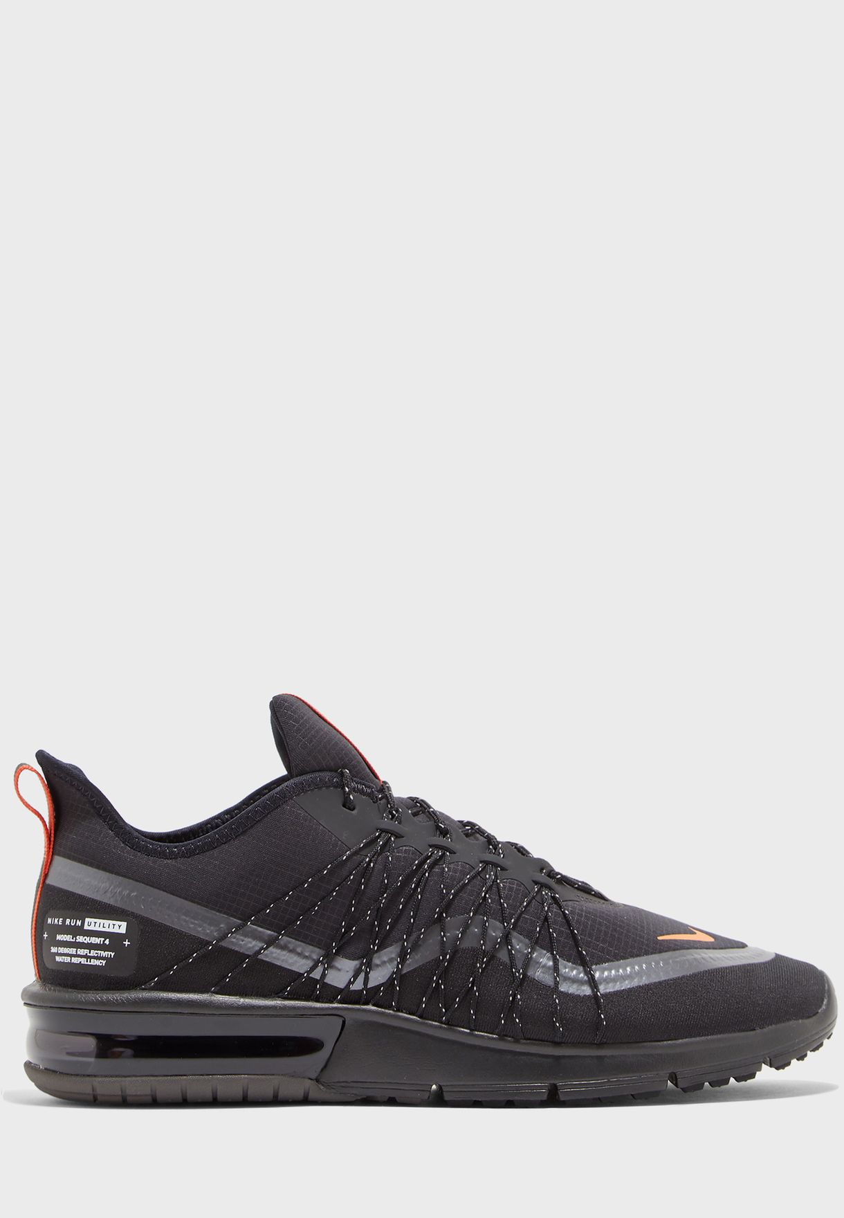 Buy Nike black Max Sequent 4 Utility