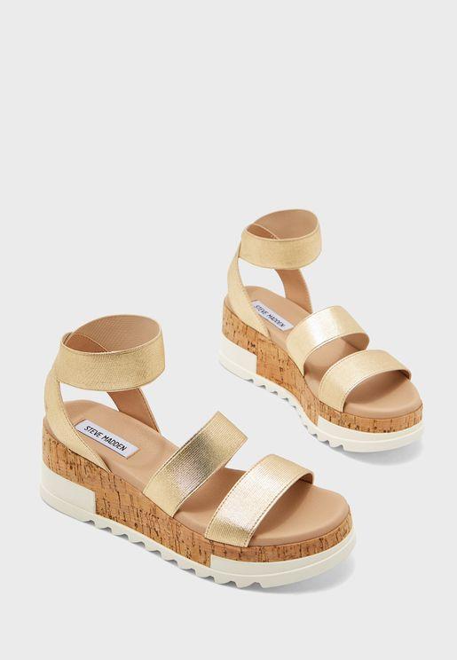 Bandi Mid Heel Wedge Sandal