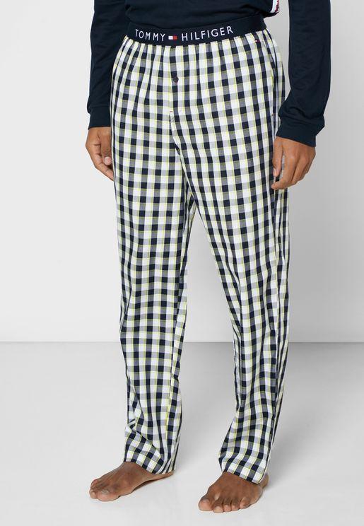 Checked Logo Band Pyjama