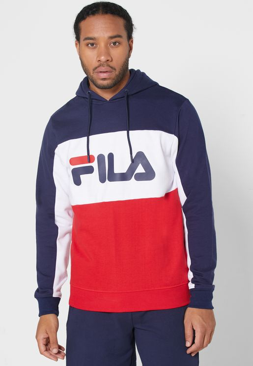 Graphic Colour Block Hoodie