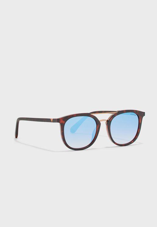 Full-Rimmed Oval Sunglasses