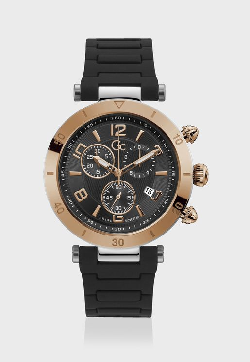 Primeclass Chronograph Silicone Strap Watch
