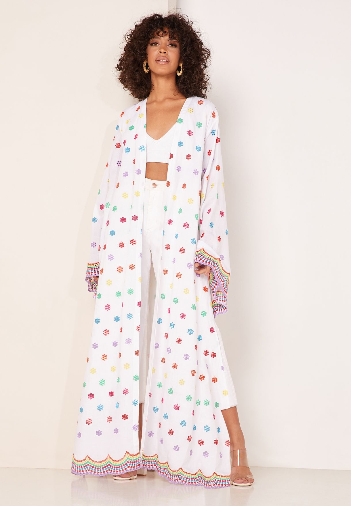 Raquel Longline Polka Dot Kimono