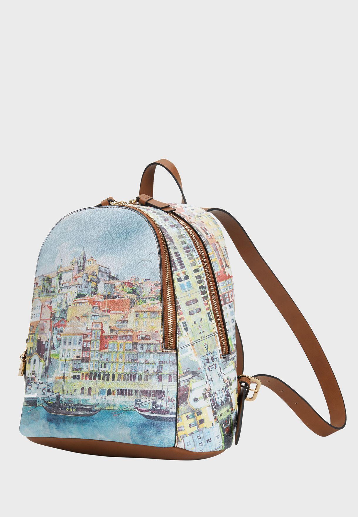 Oporto Printed Backpack
