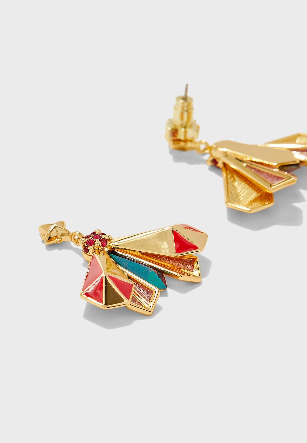 Atlas Pyramid Drop Earrings