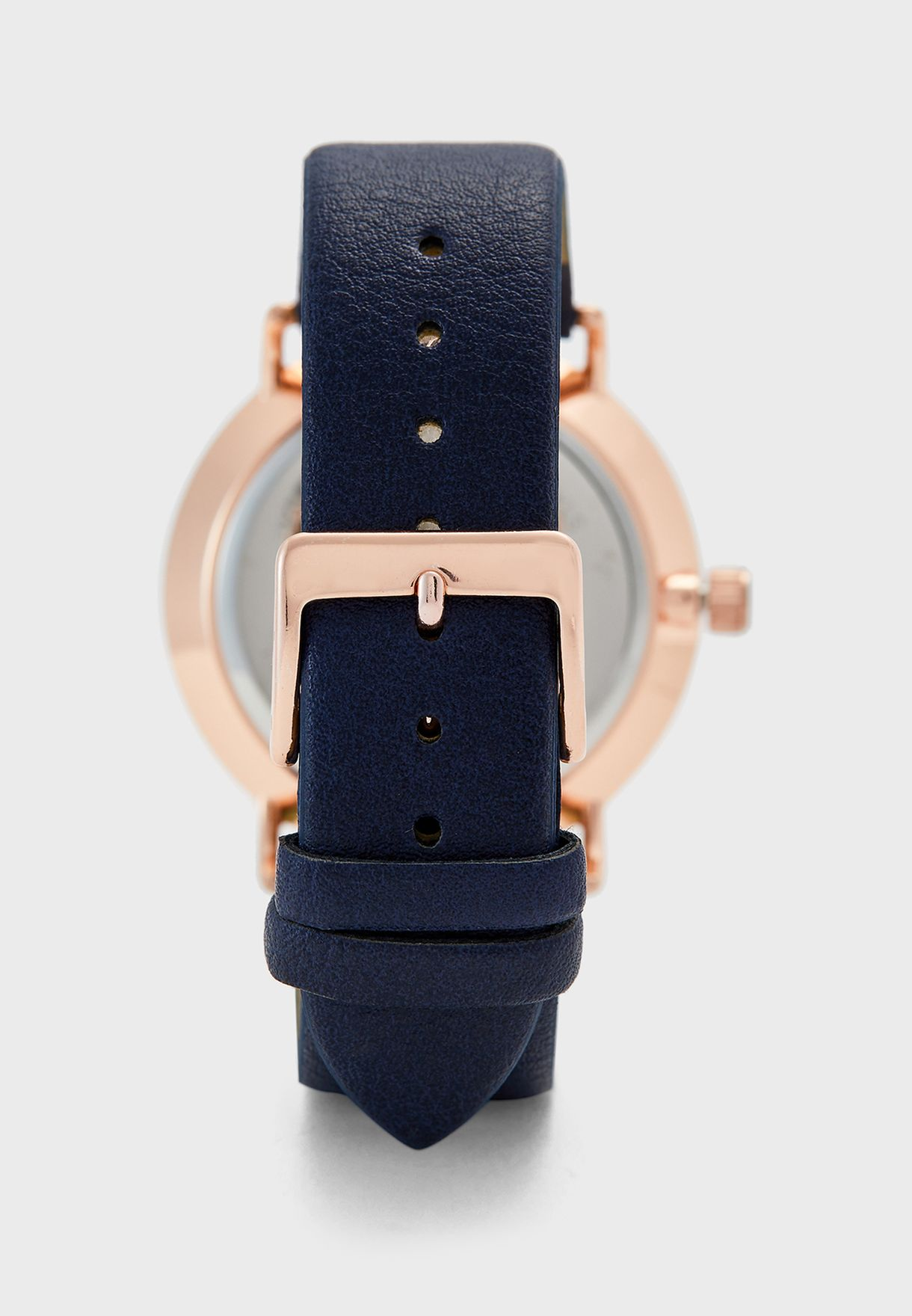 Faux Leather Strap Formal Analogue Watch