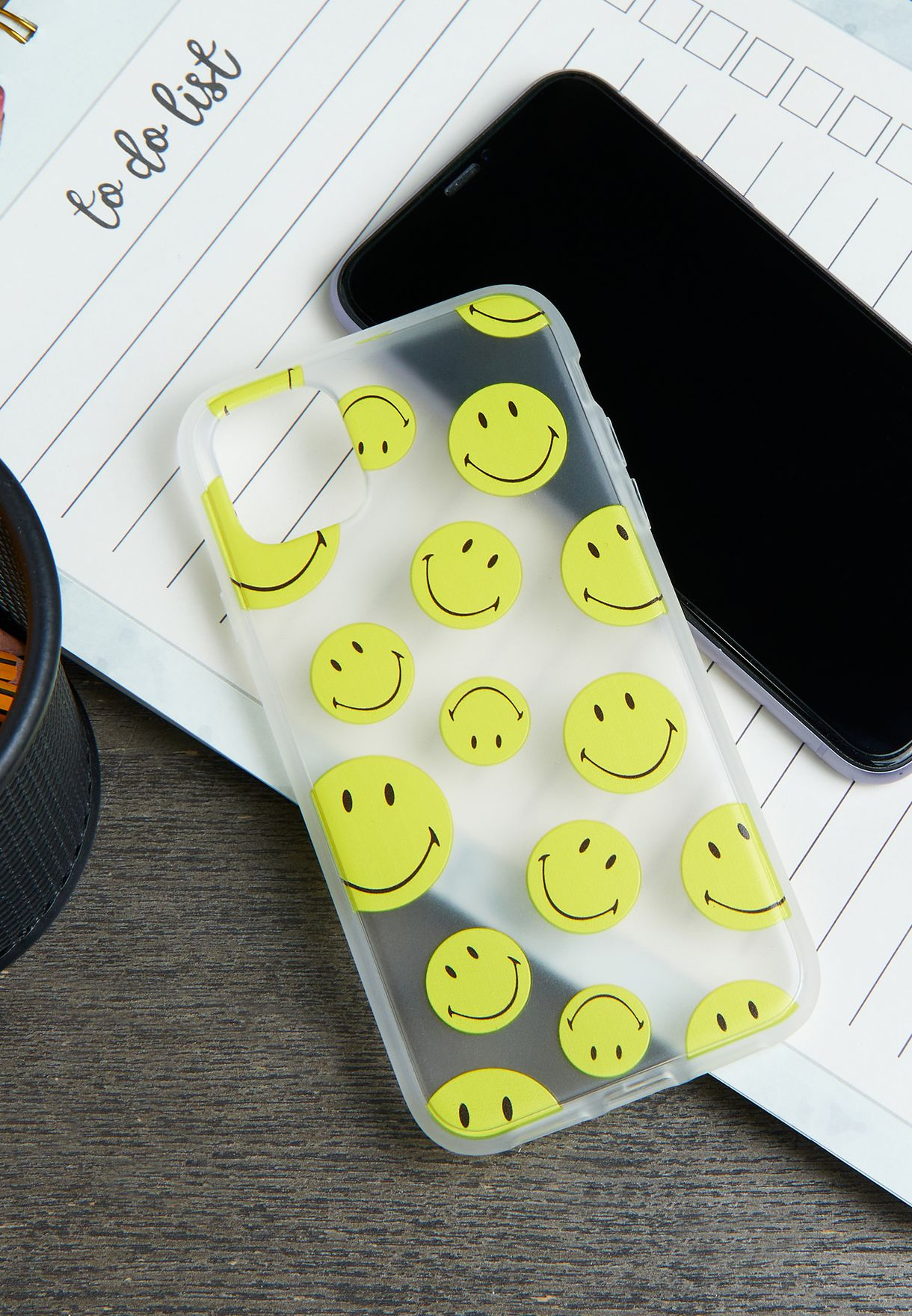 Smiley Face Snap On Protective iPhone 11 Case
