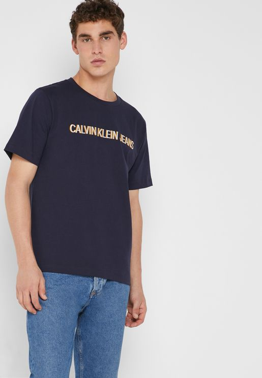 Embroidery Logo Crew Neck T-Shirt