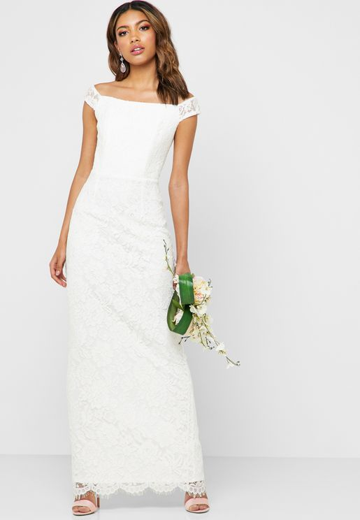 Bardot Bridal Lace Maxi Dress