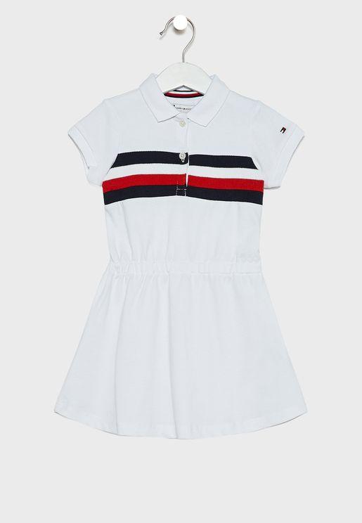 فستان بياقة كلاسيكية للاطفال