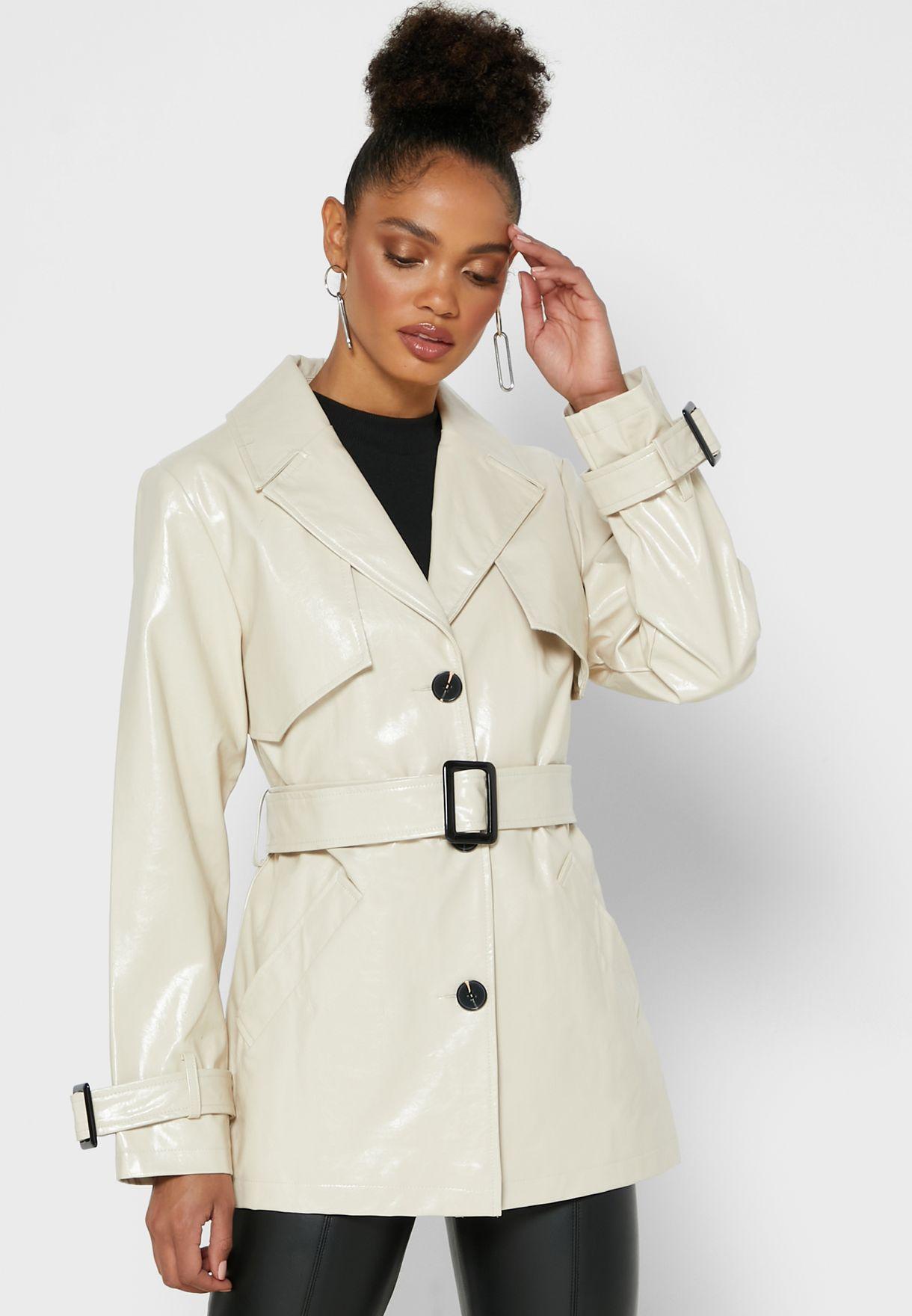 Shimmer Belted Coat