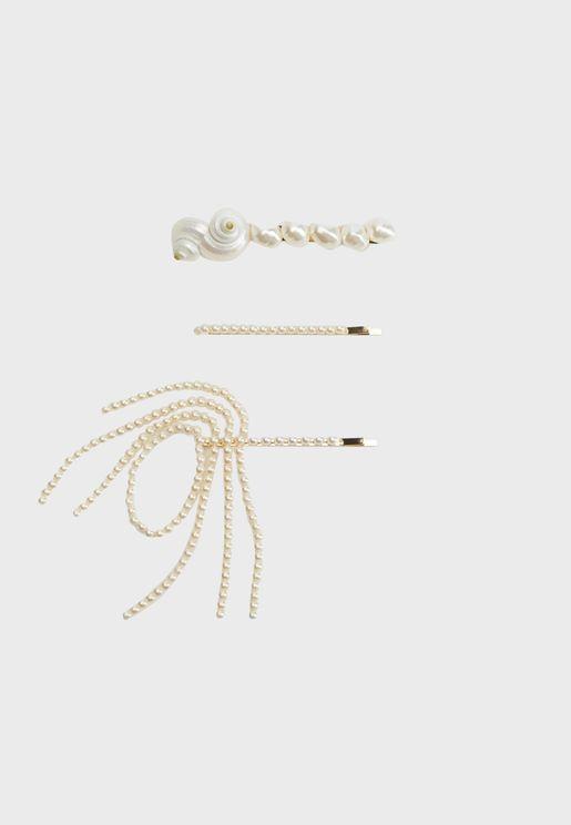 Petunia Bow Hairclips Set
