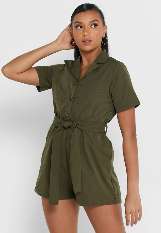 Buttoned Down Playsuit