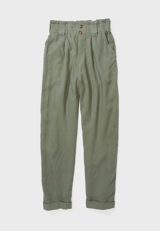Roll Hem Tapered Pants