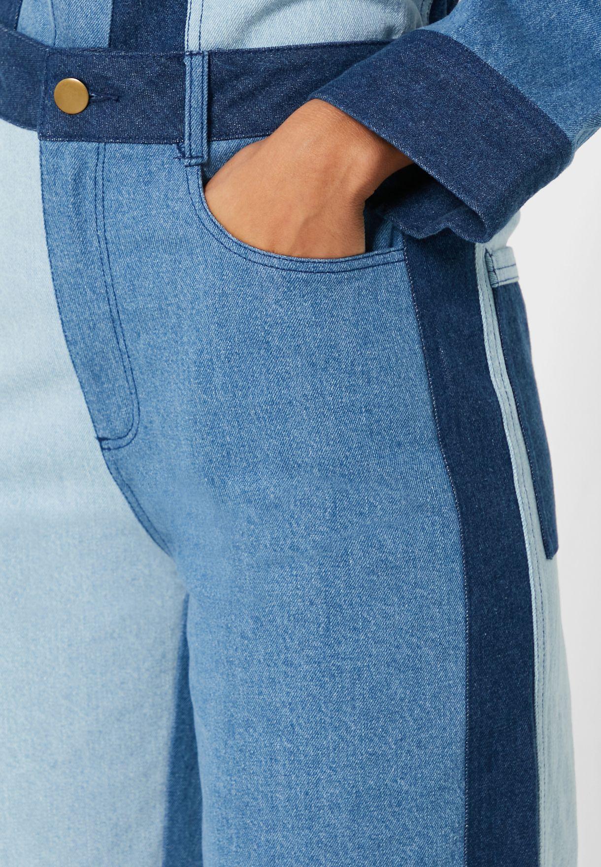 Patchwork Colorblock Jeans