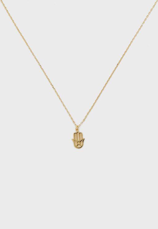 Spiritual Hamza Hand Subrange Necklace