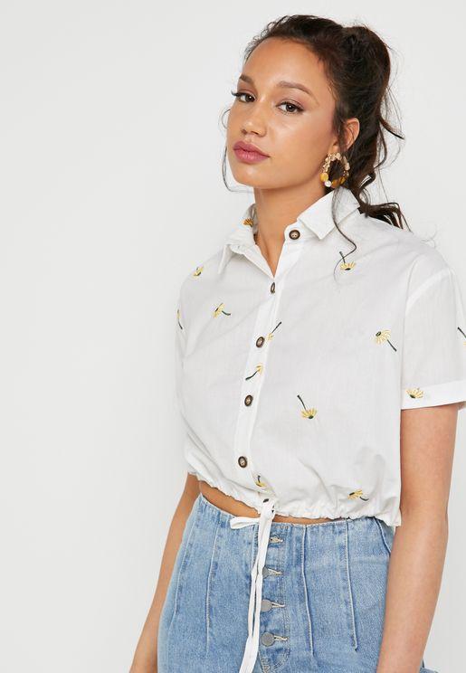 قميص قصير وباربطة