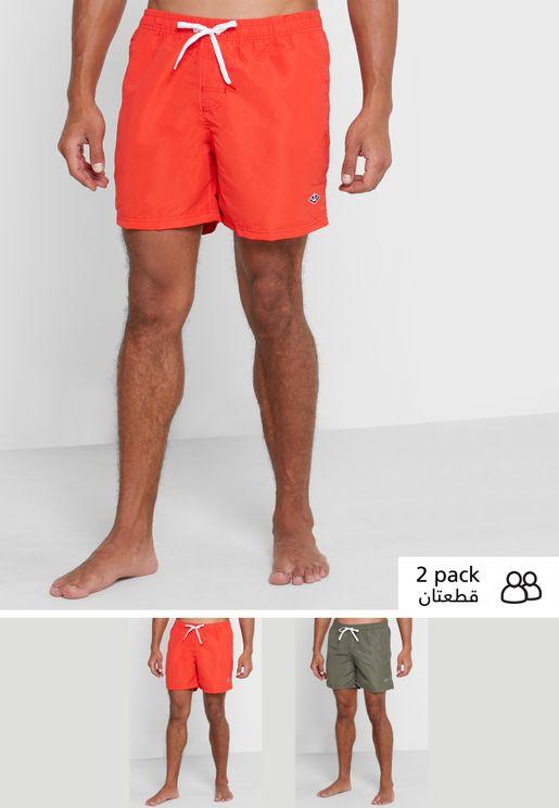 2 Pack Swim Shorts