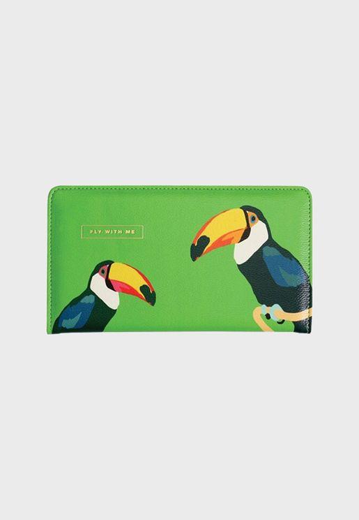 محفظة سفر بطباعة طوكان