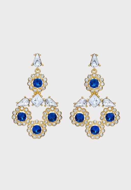 Lralina Daisy Crystal Large Drop Earrings