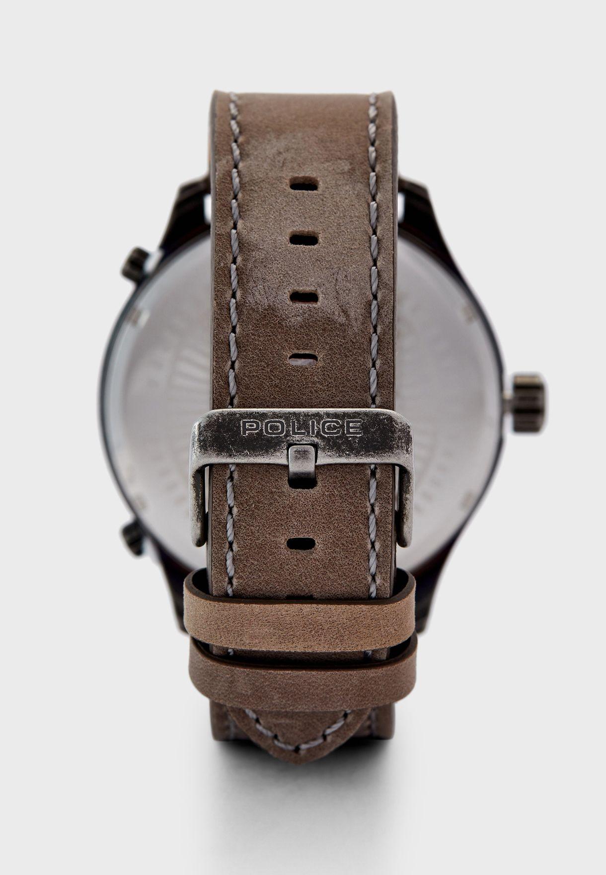 ساعة كرونوغراف جلد اصلي