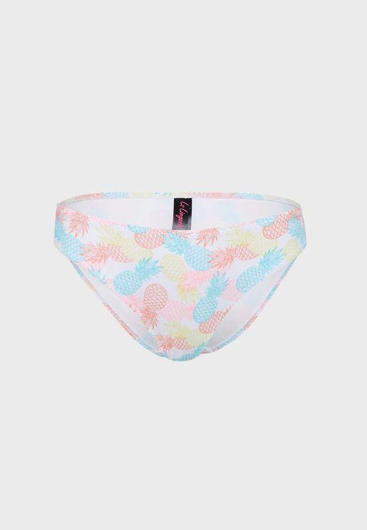 Tropical Print Bikini Bottom