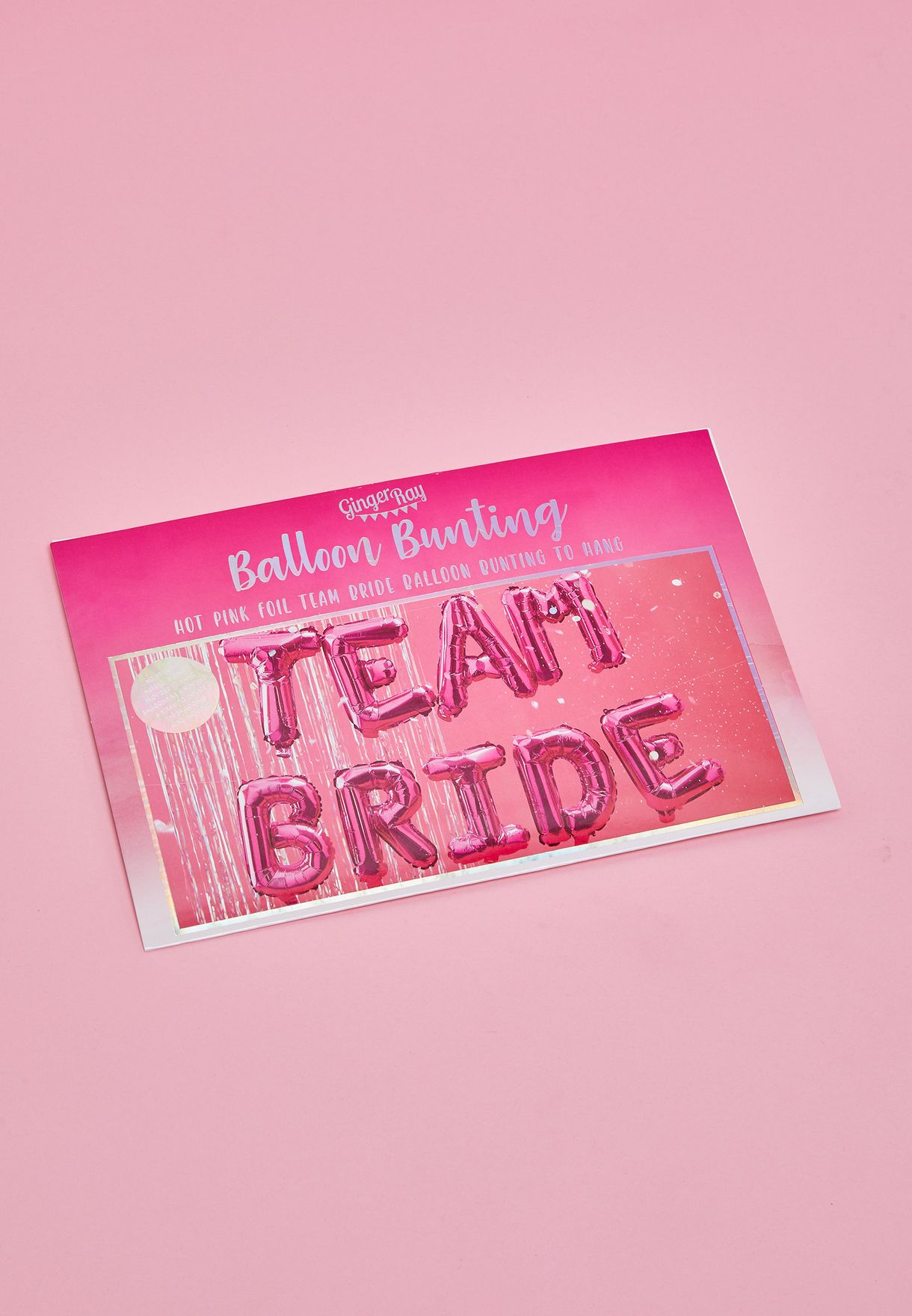 Team Bride Balloon Banner