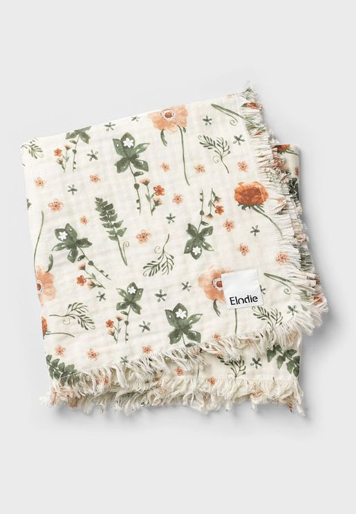 Meadow Blossom  Soft Cotton Blanket