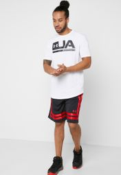 Shop Under Armour black Baseline 10 quot  Shorts 1305729-002 for Men in  Kuwait - 70680AT14GIP 572d3d76343a